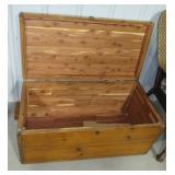 """Vintage cedar chest. Measures 16"""" h x 36"""" w x 18"""""""