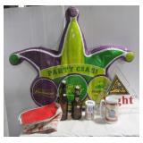 Various beer memorabilia including Blatz sign,