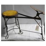 Vintage shoe shiners stool.
