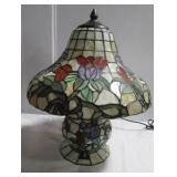 Like new stained glass style electric light.