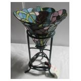 Like new stained glass style electric lamp.