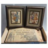 (2) Framed counted cross stitch Hummel pictures