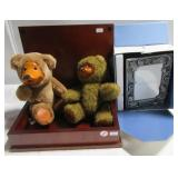 Jewelry box, wood faced bears and things