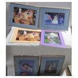 (4) Disney framed lithographs including