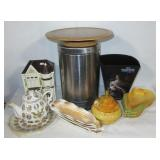 Cookie jar, Presidential teapot, ceramic corn on
