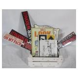 ( 13) Various metal signs including Snoopy,