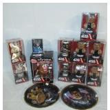 (10) Star Wars wind ups in original packages, (2)