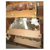 (3) Boxes of glassware including candle stick