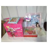 (20+) Barbie Keepsake ornaments, doll clothes and