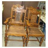 (4) Matching ornate wood chairs. Note: Missing
