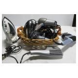 (3) Hair dryers, Panasonic iron, Conair hair