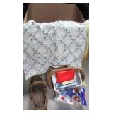 Large variety of various sized wicker baskets,