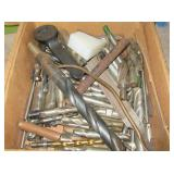 Large group of various size drill bits &