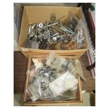 Large variety of hardware including bolts, nuts,