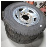 Pair of Cooper Discoverer tires with rims size