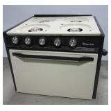 Four burner magic chef stove. Note: Missing