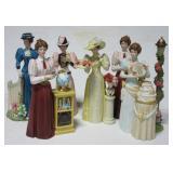 """(6) Avon ceramic figurines. Largest measures 10""""."""