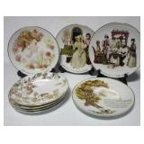 (8) Avon plates with some stands.