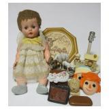 Vintage doll, lamp, master piece porcelain ram