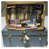 Storage trunk filled with crafting yarn & other