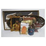 Elvis clock, home décor pieces, salt crystal