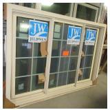 New Jeld-Wen three pane dual siding window.