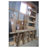 (4) Pieces of framed hideaway door tracks.