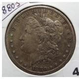 1880-S Morgan Silver Dollar.