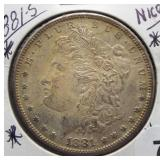 1881-S Morgan Silver Dollar.