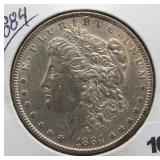 1884 Morgan Silver Dollar.