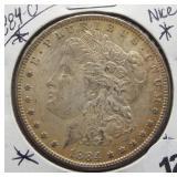 1884-O Morgan Silver Dollar.
