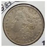 1885 Morgan Silver Dollar.