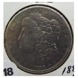 1889-O Morgan Silver Dollar.