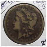 1890-CC Morgan Silver Dollar.