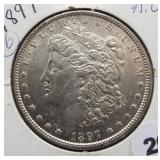 1897 Morgan Silver Dollar.