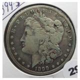1899-S Morgan Silver Dollar.