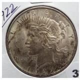 1922 Peace Silver Dollar.