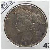 1923-S Peace Silver Dollar.