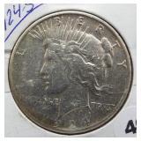 1924-S Peace Silver Dollar.