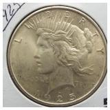 1925 Peace Silver Dollar.