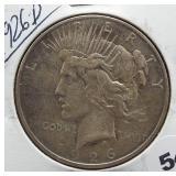 1926-D Peace Silver Dollar.