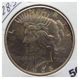 1928-S Peace Silver Dollar.