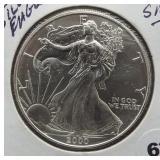 2000 One Ounce Fine Silver Eagle.
