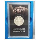 1882-CC Morgan Silver Dollar in GSA Case with COA