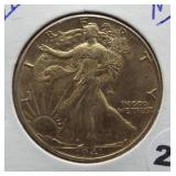1941 Walking Liberty Silver Half Dollar.