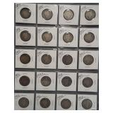 (20) Barber Silver Quarters. Dates: 1894, 4-1898,