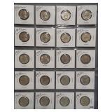 (20) Washington Silver Quarters. Dates: 2-1932,
