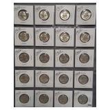 (20) 1963-D Washington Silver Quarters.