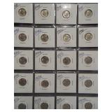 (20) Roosevelt Silver Dimes. Dates: 2-1948,