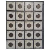 (20) V-Nickels. Dates: 1887, 1889, 1893, 1894,